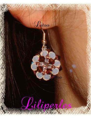 Boucles d'oreilles violette