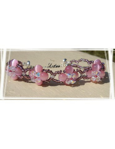 Bracelet crystal de rose