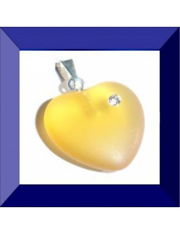 Cœur en verre pendentif 16...