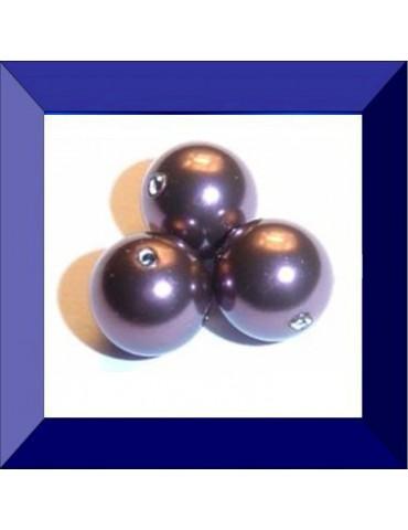 Crystal burgundy pearl 8 mm
