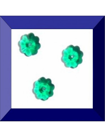 Fleur 6 mm Emerald U Swarovski