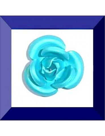 Fleur résine 10 mm bleu...