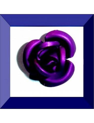 Fleur résine 12 mm violet
