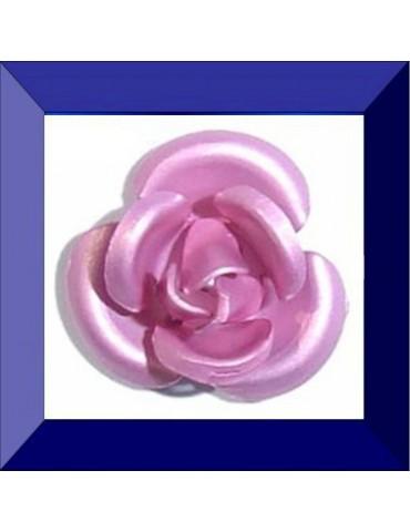Fleur résine 6 mm rose