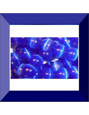Œil de chat 8 mm bleu foncé