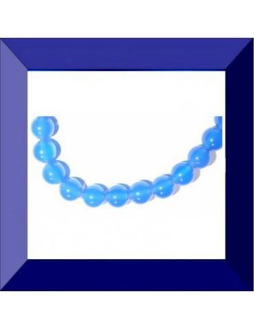 Perle Agate bleue 6 mm