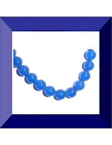 Perle Agate Bleue 8 mm