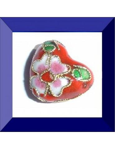 Perle cloisonnée 10X12 mm