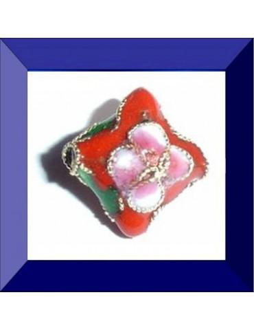 Perle cloisonnée 13X13 mm