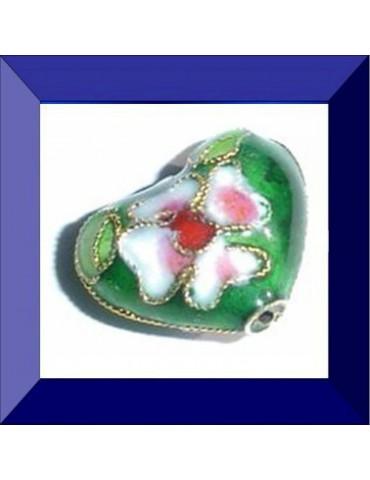 Perle cloisonnée 13X16 mm