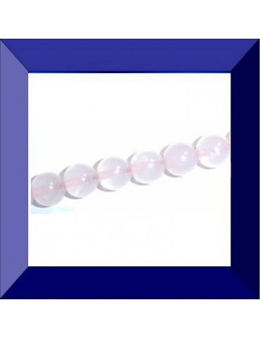 Perle Quartz rose 8 mm