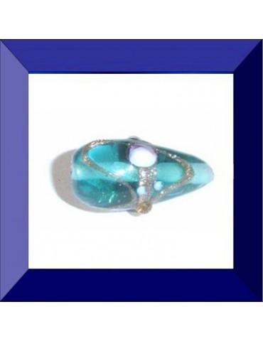 """Perle en verre """"cone décoré"""""""