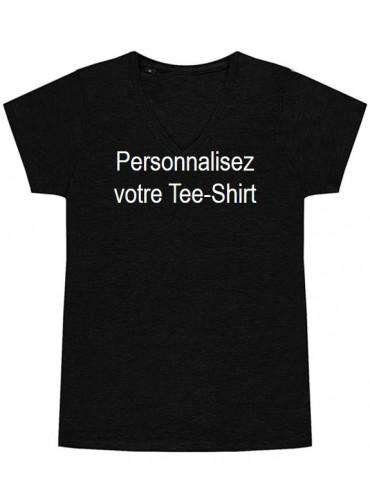 T-Shirt V-Neck Femme,...