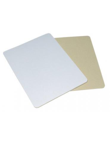 Tapis de souris rectangulaire 23 x 19 cm / 5 mm en caoutchouc clair